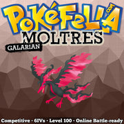 Galarian Moltres • Competitive • 6IVs • Level 100 • Online Battle-Ready
