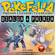 Dialga & Palkia • OT: Leggende2018 • ID No. 020218 • Level 60 • Pokémon Sun & Moon Pokémon Legendary Celebration Distribution 2018