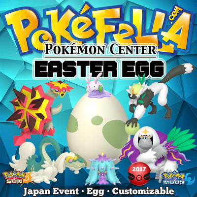Easter Egg Distribution • Mareanie, Oranguru, Passimian, Turtonator, Drampa, Goomy • Japan 2017 Event