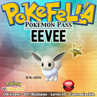 Pokémon Pass Shiny Eevee • OT: Bullseye • ID No. 190511 • US 2019 Event