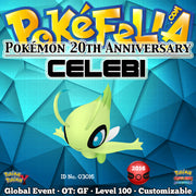 Pokémon 20th Anniversary Celebi • OT: GF • ID No. 03016 •  2016 Event
