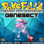 Pokémon 20th Anniversary Genesect • OT: GF • ID No. 11016 • North America, Europe 2016 Event