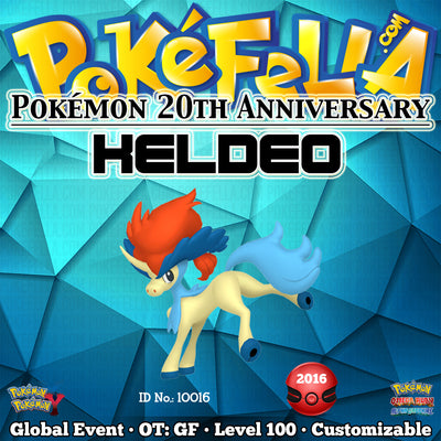 Pokémon 20th Anniversary Keldeo • OT: GF • ID No. 10016 •  2016 Event
