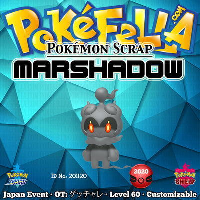 Pokémon Scrap Marshadow • OT: ゲッチャレ • ID No. 201120 • Japan 2020 Event
