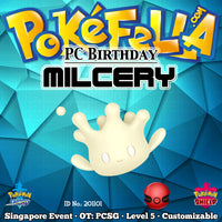 Pokémon Center Birthday (Ribbon Sweet, Star Sweet) Milcery • OT: PCSG • ID No. 201101 • Singapore 2020 Event
