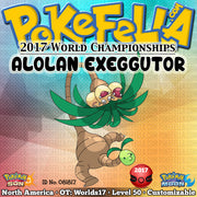 Alolan Exeggutor • OT: Worlds17 • ID No. 081817 • 2017 World Championships North American Event Pokemon New Nintendo 3DS 2DS XL Pokemon Sun Moon Ultra Sun Ultra Moon Harvest Power Swap Celebrate Leaf Storm Draco Meteor Sitrus Berry