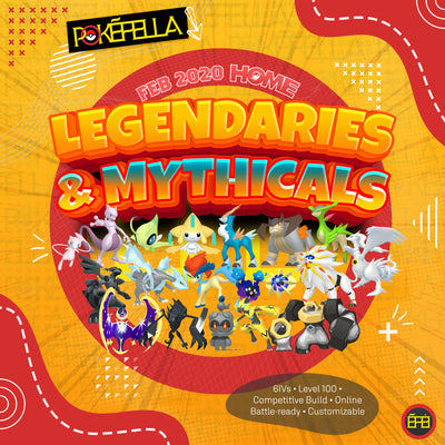 February 2020 Pokemon Home Legendaries & Mythicals • Competitive • 6IVs • Level 100 • Online Battle-ready