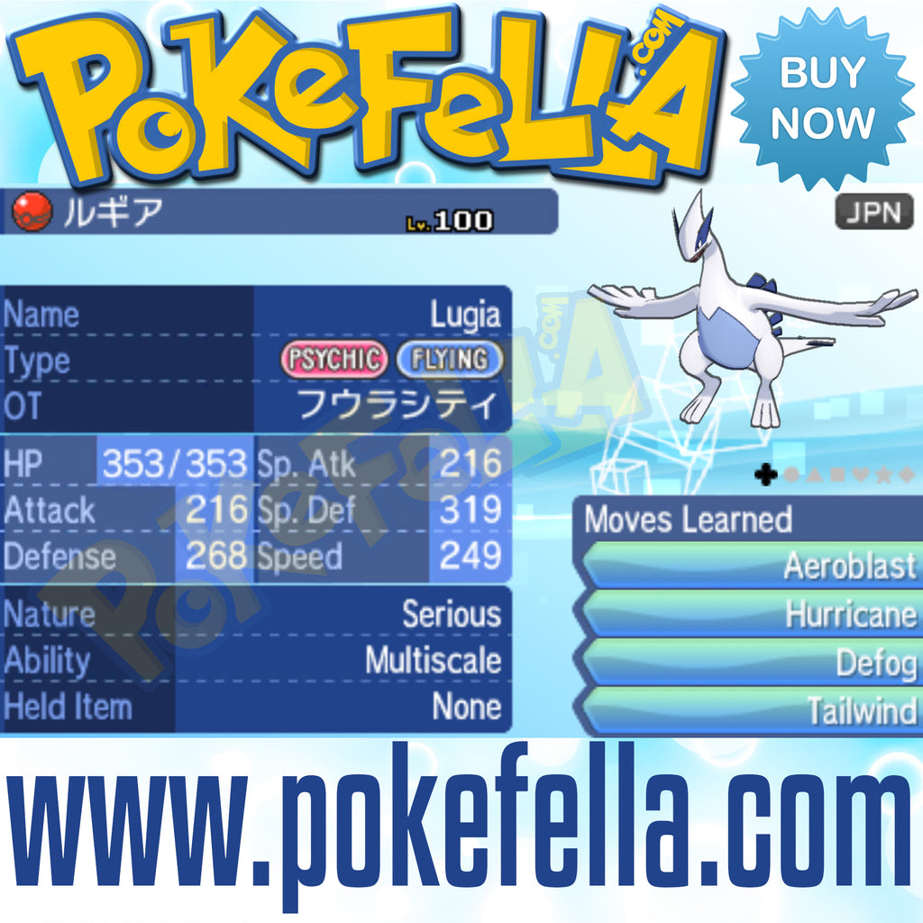 Fuura / Fura City Wind Lugia • OT: フウラシティ • ID No. 180413 • Pokémon Movie 21: Everyone's Story - Japan 2018 Event