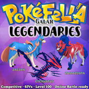 Galar Legendaries: Zacian, Zamazenta, Eternatus • Competitive • 6IVs • Level 100 • Online Battle-ready