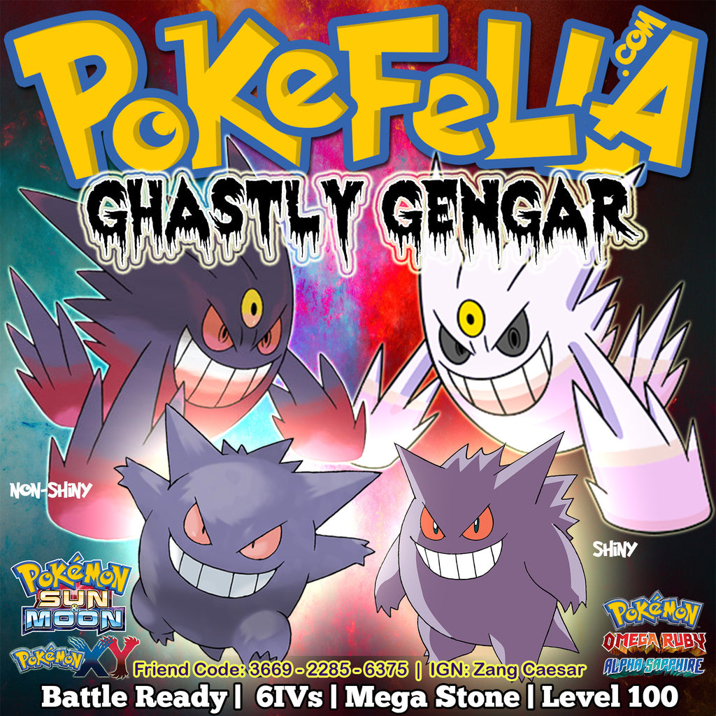 Gengar (Mega) | Battle-Ready, 6IVs, Level 100