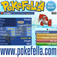 Kyogre & Groudon • OT: Leggende2018 • ID No. 080318 • Level 60 • Pokémon Sun & Moon