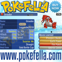 Kyogre & Groudon • OT: Leggende2018 • ID No. 080318 • Level 100 • Pokémon Ultra Sun & Ultra Moon