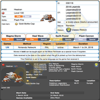 Heatran & Regigigas • OT: Legenden2018 • ID No. 030118 • Level 100 • Pokémon Ultra Sun & Ultra Moon Pokémon Legendary Celebration Distribution 2018