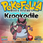 Ryota Otsubo's Krookodile • OT: ルイ • ID No. 070618 • Pokémon International Championships Distribution 2018