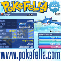Kyogre & Groudon • OT: Leyendas2018 • ID No. 080318 • Level 100 • Pokémon Ultra Sun & Ultra Moon