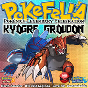 Kyogre & Groudon • OT: 2018 Legends • ID No. 080318 • Level 60 • Pokémon Sun & Moon