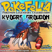 Kyogre & Groudon • OT: 2018 Legends • ID No. 080318 • Level 100 • Pokémon Ultra Sun & Ultra Moon