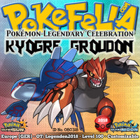 Kyogre & Groudon • OT: Legenden2018 • ID No. 080318 • Level 100 • Pokémon Ultra Sun & Ultra Moon