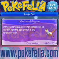 Latias & Latios • OT: 2018 Legends / Légendes2018 / Legenden2018 / Leggende2018 / Leyendas2018 • ID No. 090118 • Level 60 • 2018 Pokémon Legendary Celebration Distribution wonder card