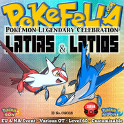 Latias & Latios • OT: 2018 Legends / Légendes2018 / Legenden2018 / Leggende2018 / Leyendas2018 • ID No. 090118 • Level 60 • 2018 Pokémon Legendary Celebration Distribution