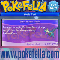 Latias & Latios • OT: 2018 Legends / Légendes2018 / Legenden2018 / Leggende2018 / Leyendas2018 • ID No. 090118 • Level 100 • 2018 Pokémon Legendary Celebration Distribution wonder card
