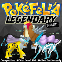 ultra square shiny Legendary Beasts • Raikou, Entei, Suicune •  Competitive • 6IVs • Level 100 • Online Battle-ready