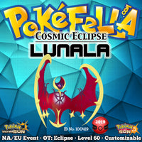 Cosmic Eclipse Shiny Lunala • OT: Eclipse • ID No. 100419 • North America, Europe 2019 Event