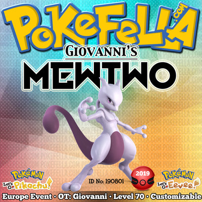 Giovanni's Mewtwo • OT: Giovanni • ID No. 190801 • TCG Unified Minds Tie-In • Europe 2019 Event