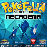 Secret Club Shiny Necrozma • OT: ひみつ • ID No. 000132 • Japan 2019 Event