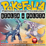 Dialga Palkia Pokemon Legendary Celebration Distribution 2018 for sale buy now Pokemon Sun Moon Ultra Sun Ultra Moon