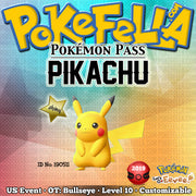 Pokémon Pass Shiny Pikachu • OT: Bullseye • ID No. 190511 • US 2019 Event