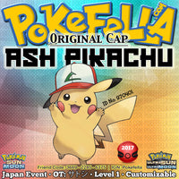 Ash Pikachu • Original Cap/Hat • OT: サトシ • ID No. 970401 • Pokemon I Choose You - Tie In-Distribution Japan 2017 Event