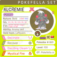 ultra square shiny Gigantamax Alcremie • Competitive • 6IVs • Level 100 • Online Battle-ready