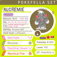 ultra square shiny Alcremie • Competitive • 6IVs • Level 100 • Online Battle-ready