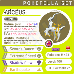 ultra square shiny Arceus • Competitive • 6IVs • Level 100 • Online Battle-Ready