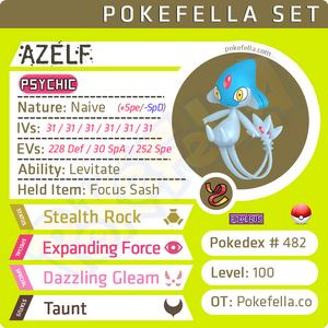 ultra square shiny Azelf • Competitive • 6IVs • Level 100 • Online Battle-Ready