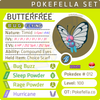 ultra square shiny Butterfree • Competitive • 6IVs • Level 100 • Online Battle-ready
