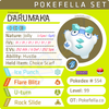 ultra square shiny Galarian Darumaka • Competitive • 6IVs • Level 99 • Online Battle-ready