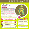 ultra square shiny Deoxys - Attack • Competitive • 6IVs • Level 100 • Online Battle-Ready
