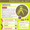 ultra square shiny Deoxys Formes: Normal, Attack, Defense, Speed •  Competitive • 6IVs • Level 100 • Online Battle-ready