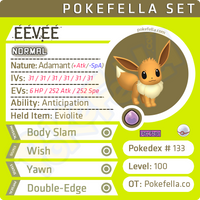 ultra square shiny Eevee • Competitive • 6IVs • Level 100 • Online Battle-ready