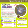 ultra square shiny Gigantamax Gengar • Competitive • 6IVs • Level 100 • Online Battle-ready