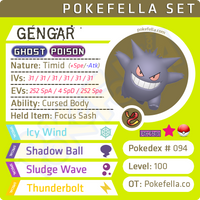 ultra square shiny Gengar • Competitive • 6IVs • Level 100 • Online Battle-ready