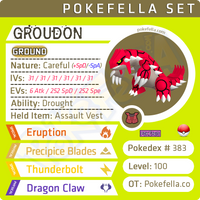 Groudon • Competitive • 6IVs • Level 100 • Online Battle-Ready