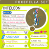 ultra square shiny Inteleon • Competitive • 6IVs • Level 100 • Hidden Ability Online Battle-ready