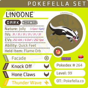 ultra square shiny Galarian Linoone • Competitive • 6IVs • Level 99 • Online Battle-ready
