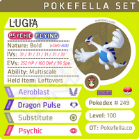 Lugia • Competitive • 6IVs • Level 100 • Online Battle-Ready