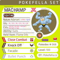 ultra square shiny Gigantamax Machamp • Competitive • 6IVs • Level 100 • Online Battle-ready