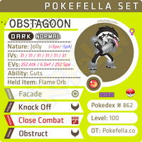 ultra square shiny Obstagoon • Competitive • 6IVs • Level 100 • Online Battle-ready