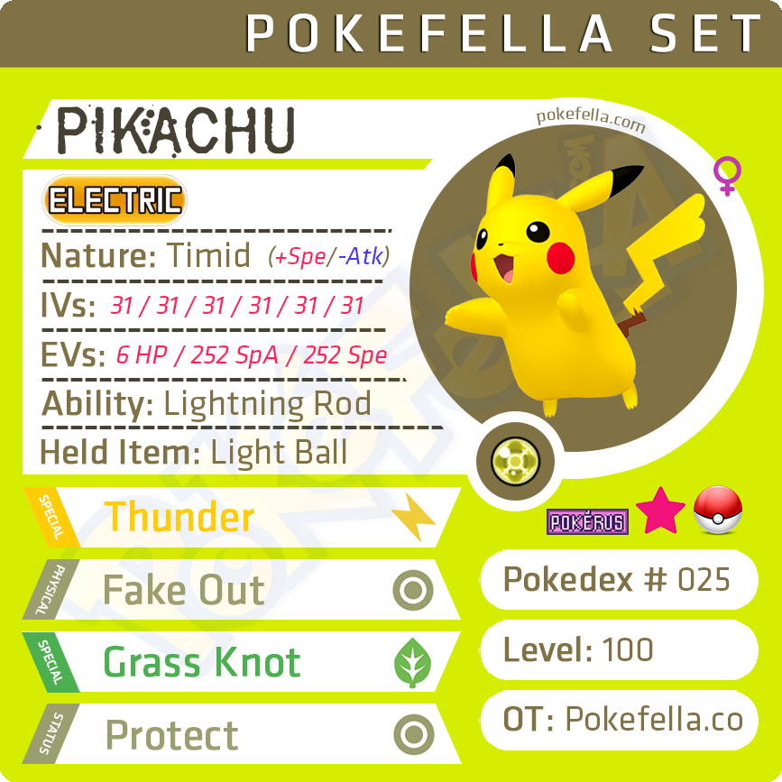 ultra square shiny Pikachu • Competitive • 6IVs • Level 100 • Online Battle-ready